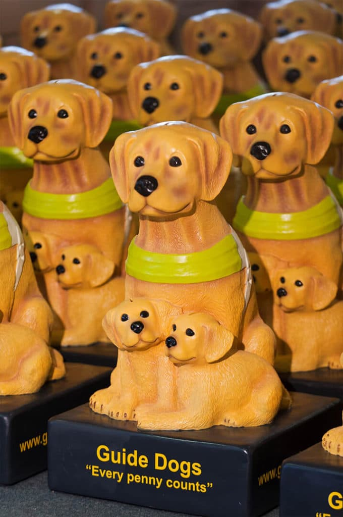 Guide Dogs Donation boxes