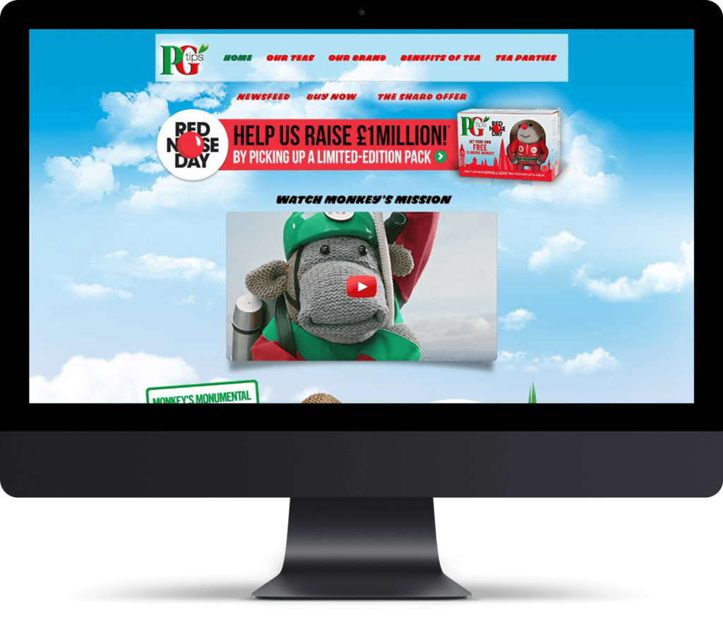 PG Tips Monkey website