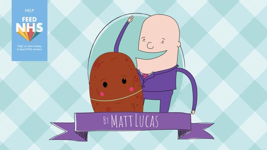 Feed NHS Matt Lucas Illustration