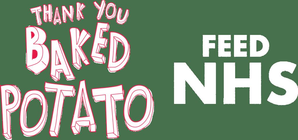 Thank you Backed Potato Feed NHS logo