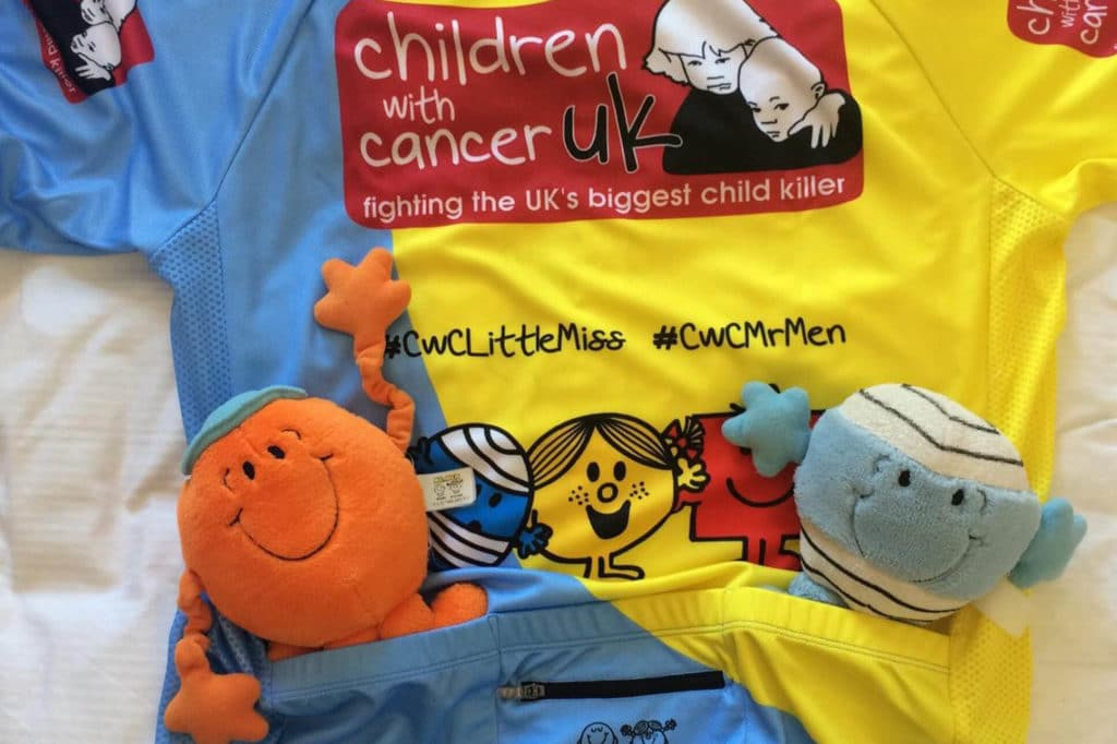 Children with Cancer Mr Men Running top