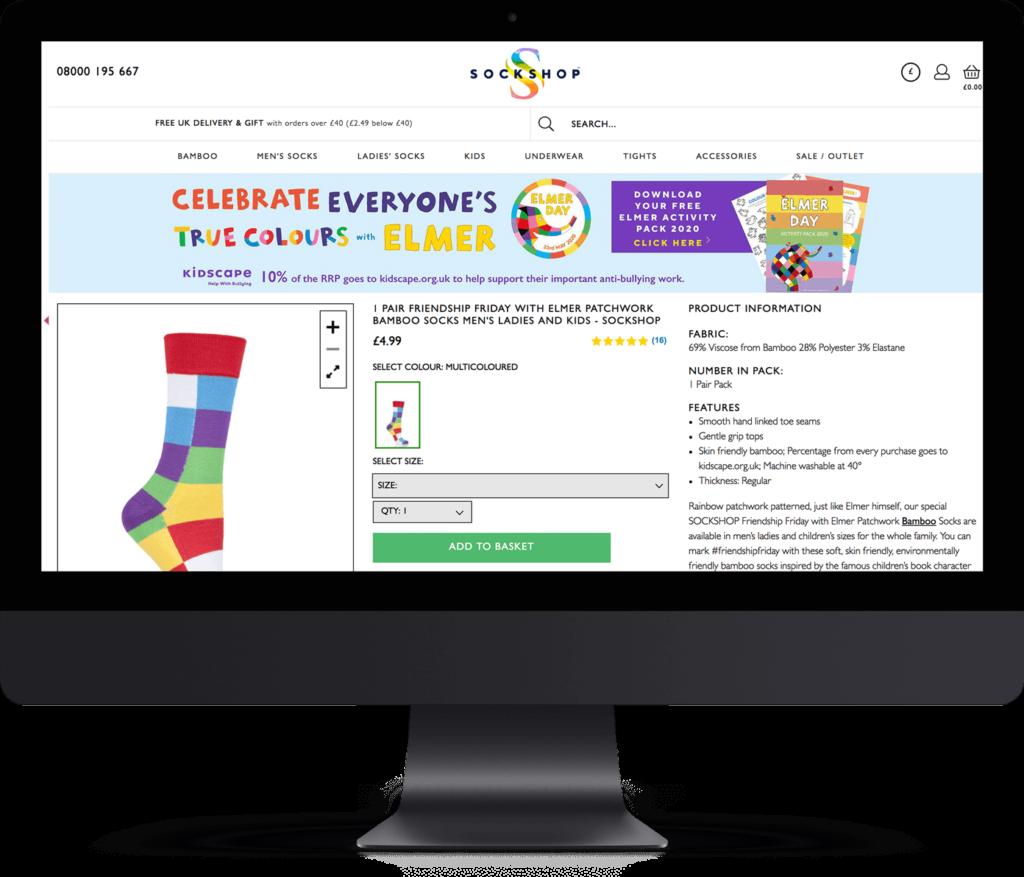 Sockshop website
