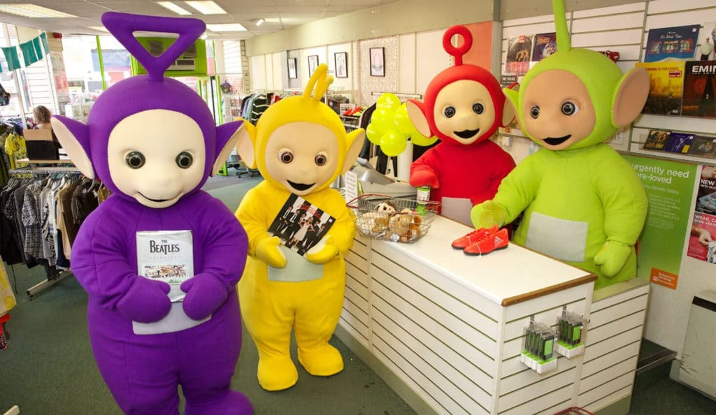 Teletubbies in a Bernados store