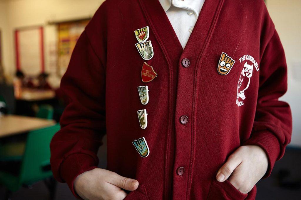 WOW badge on child